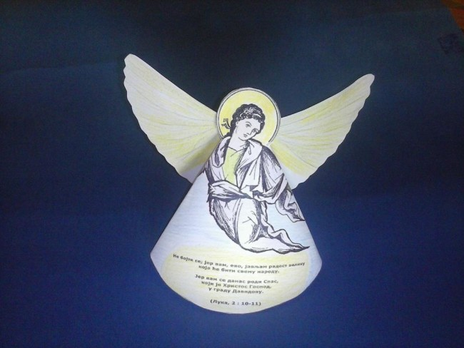 Деца и Божић: направите анђела – весника Христовог рођења