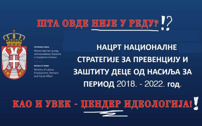 Шта није у реду са Нацртом стратегије за превенцију и заштиту деце од насиља за период од 2018. до 2022. год?