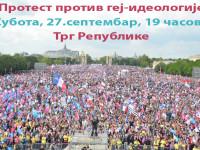 Позив на протест против наметања геј идеологије нашем друштву и деци